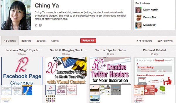 Ching Ya Social Media Infograhics on Pinterest