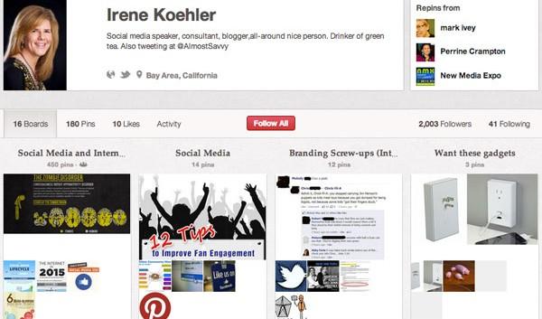 Irene Koehler Pinterest Board