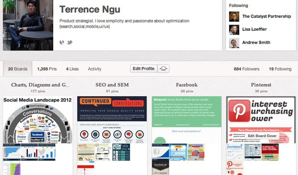 Terrence Social Media Infographics on Pinterest
