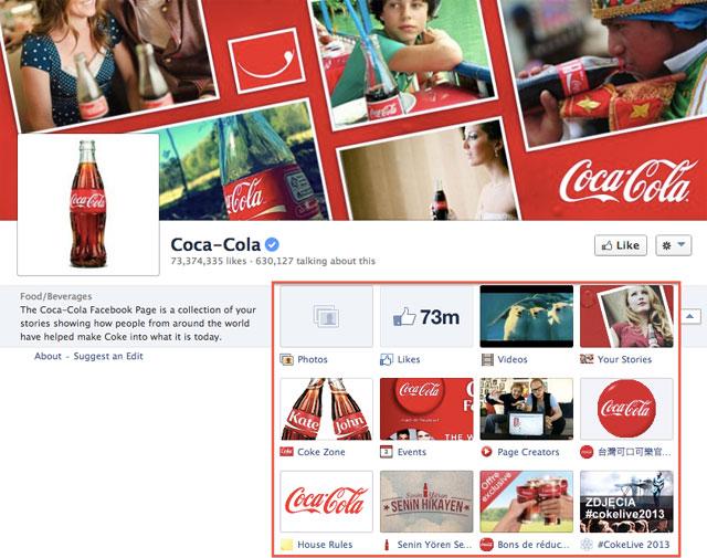 Coca Cola Facebook Page Tab