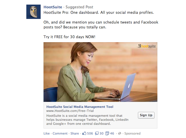 Facebook Call-To-Action Button on Link Ads