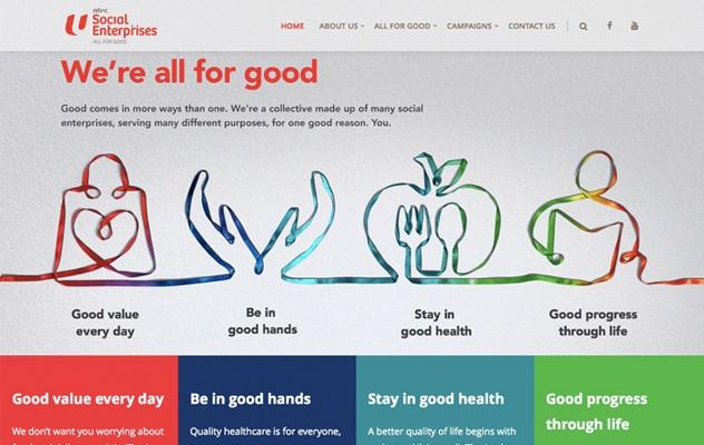 website agency Singapore - website campaigns - NTUC Social Enterprises Campaign - Hashmeta