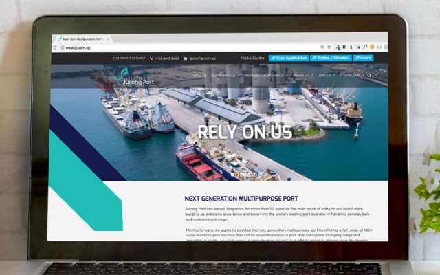 website development - website campaigns - Jurong Port Website Project - Hashmeta