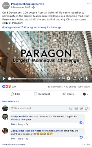 Paragon Social Media Marketing Campaign on FB