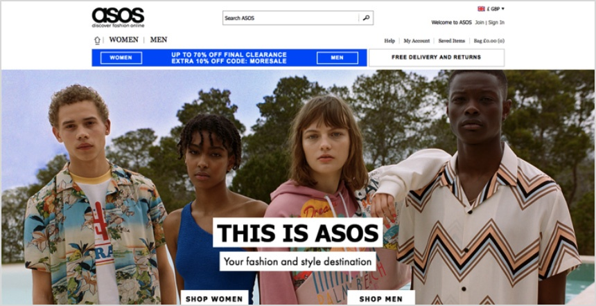 Google Remarketing with Asos