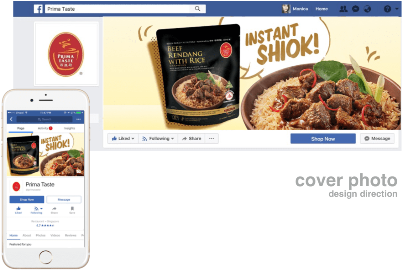 social media content strategy - cover photo of Primataste InstantShiok campaign - Hashmeta